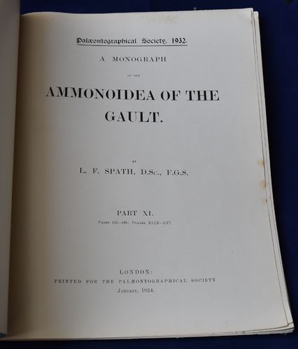 Ammonoidea of the Gault , L.F;Spath parties XI, XIV, XV et XVI